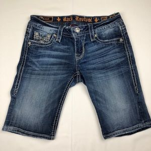 Rock Revival Women's Bermuda Shorts Size 28 Sherry